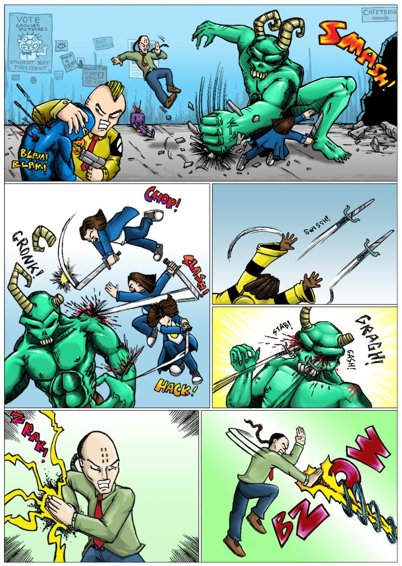 Everybody was kung-fu fighting...